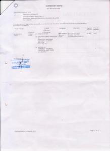 contoh : Surrender Notice PT. Meratus Line