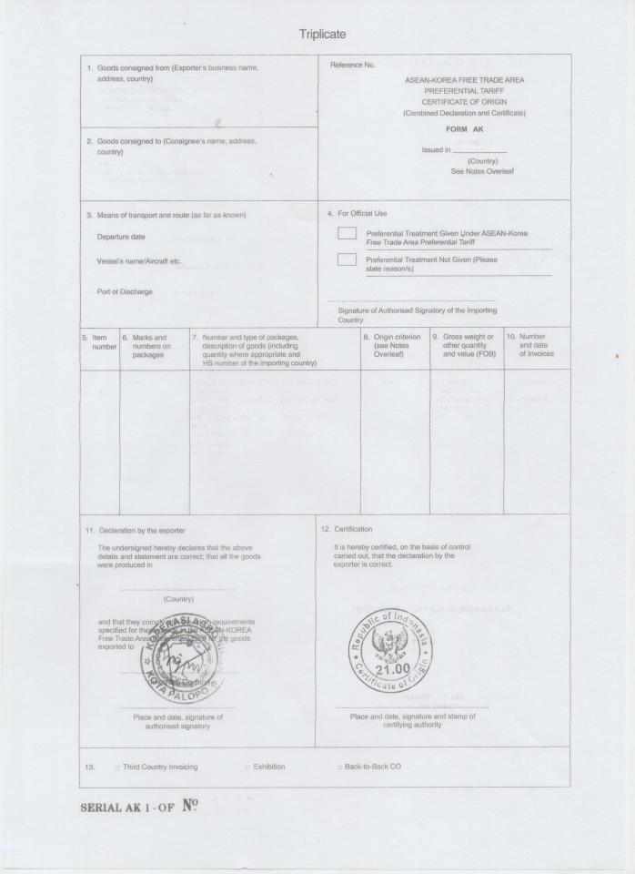 contoh Form AK