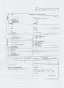 contoh Form PEB