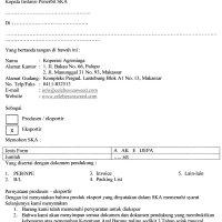 Belajar EMKL : Contoh Surat Permohonan SKA
