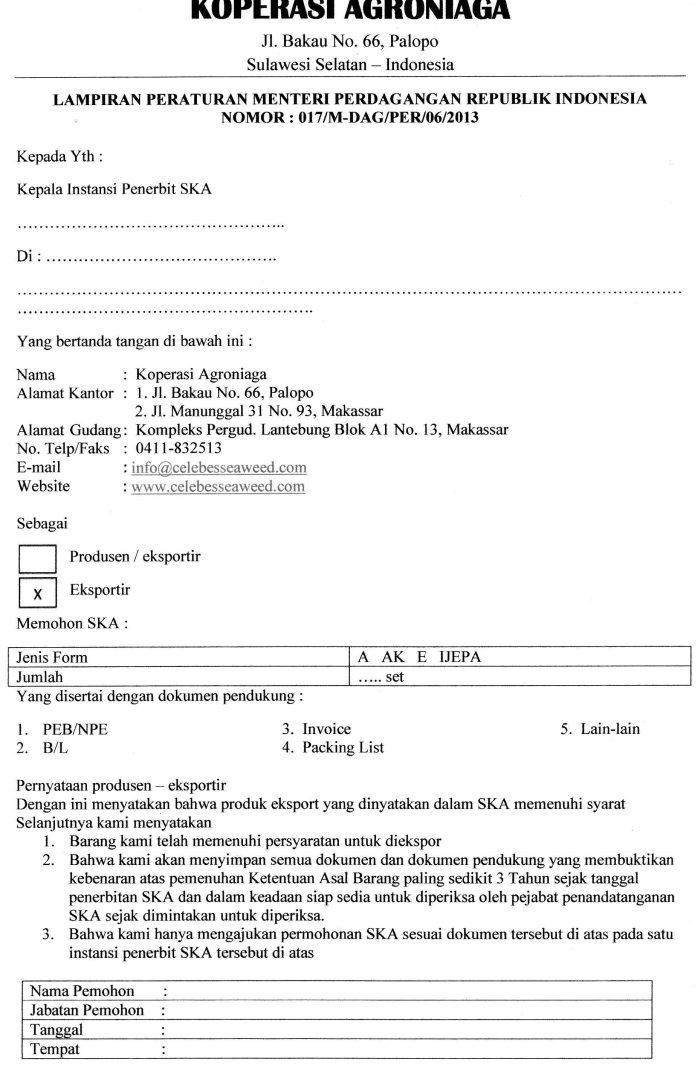 Surat Permohonan Iplc Kumpulan Contoh Surat Indonesia