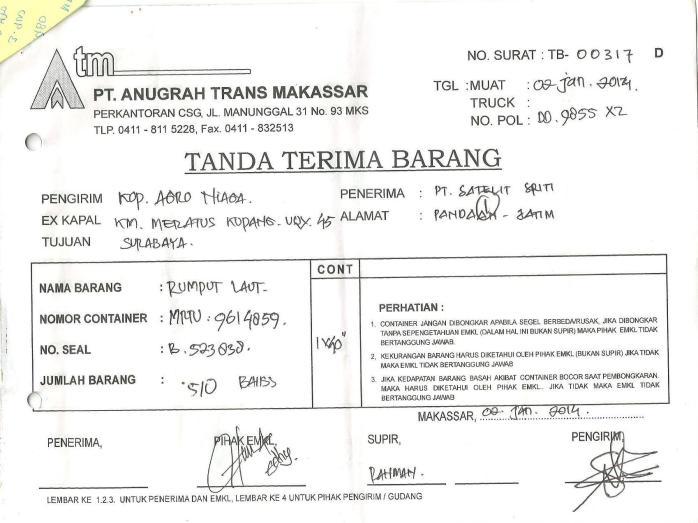 contoh TTB
